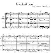 """The James Bond Theme"" for String Quartet, sheet music in PDF"