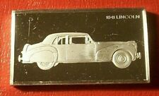 1941 Lincoln Continental Art Bar by Franklin Mint 2.15 Troy oz.925 Silver Proof