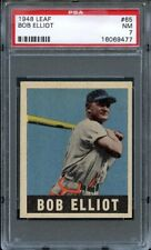 1948 Leaf BOB ELLIOT (ELLIOTT) #65 Boston Braves - ROOKIE - PSA 7