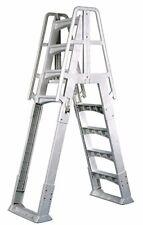 Adjustable Above Ground Swimming Pool Ladder w/ Arm Rails & Anti Skid Surface