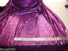 POLY LYCRA 4W STRETCH GORGEOUS  PURPLE FOIL DESIGN