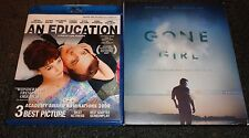 AN EDUCATION & GONE GIRL-ROSAMUND PIKE, CAREY MULLIGAN, BEN AFFLECK--2 BLURAYs