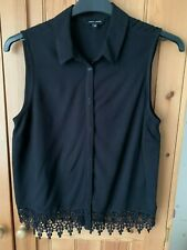 BUNDLE OF 2 LADIES BLACK TOPS NEW LOOK & SELECT SIZE 10
