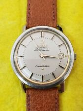 Vintage omega constellation pie pan automatic cal 564 steel ref168010 quick date