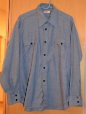 Vintage LEVI'S CHAMBRAY WESTERN SHIRT Orange Tab Work Shirt Denim Jeans X Large