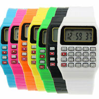 Silicone Electronic Multi-Purpose Date Keypad Calculator Children Wrist Watch