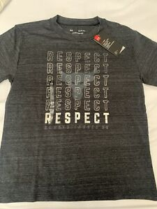 Under Armour Project Rock Respect Womens T Shirt 1332592 001 NWT Size XS