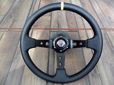 BMW Sport Deep  Dish ALPINA Badge Leather Steering Wheel 350MM E28 E30 E34