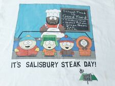 New listing Vintage South Park Salisbury Steak Day T Shirt Large Off White Chef Cartman Usa