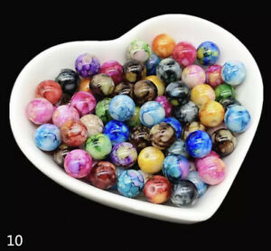 50pcs Multicolor Mixing Acrylic Beads Spacer Beads For Jewelry Making Necklace