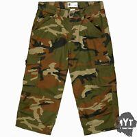 MYT Mens Cargo Shorts Combat Cotton 3/4 Length Pocket Half Pants Casual Camo