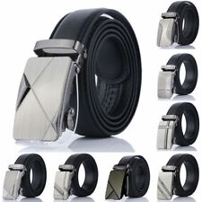 Men's PU Leather Belt Suit Dress Casual Waist Strap Belts Pin Buckle Waistband