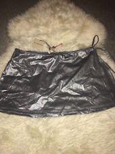 BNWT Burberry Silver Metallic Swim Coverup Beach Skirt Wrap Sarong Small