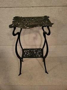 """Art Nouveau Pedestal Table Plant Flower Stand Side Table Two Tier 29"""" tall appro"""