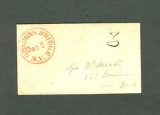 """GOLDENS BRIDGE NY Oct 5"" Unusual Orange CDS - XF 1850s envelope to 237 Broadway"
