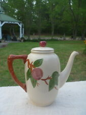 Franciscan Red APPLE 6 Cup Coffee Pot w Lid England Backstamp