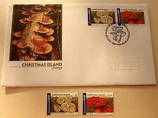 2001 Christmas Island -FUNGI  $1, $1.50 MNH stamps + FDC