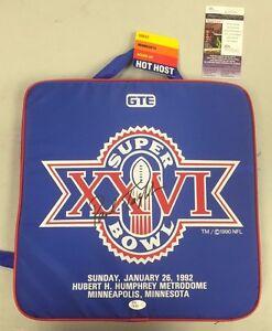 Paul Tagliabue Auto NFL Super Bowl 26 XXVI SEAT CUSHION Redskins Bills JSA