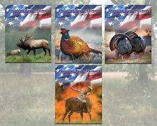8x10  Aluminum/tin American Game Animals series wall plaque
