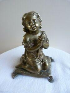 """""""La prière du Matin"""" signé Mathurin MOREAU (1822-1912) Bronze  XIXe siècle"""