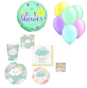 Baby Shower Party Supplies for 16 Gender Neutral Plates Napkins Cups Balloons