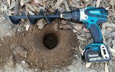 Digger Planter Garden Auger Drill Bit Planting Irrigation Weeding Steel Tool