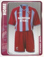 298 HOME KIT ENGLAND SCUNTHORPE UNITED STICKER FL CHAMPIONSHIP 2010 PANINI