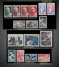 1945 ,196 1947 1956 1962 1982 FRANCE SMALL LOT MINT NEVER HINGED TO HINGED