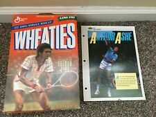 Arthur Ashe Wheaties cereal box (tennis) OPEN and HALL OF FAMERS Sports Sheet