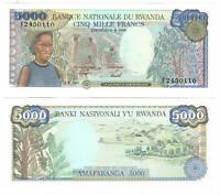 UNC RWANDA 5000 Francs (1988) P-22