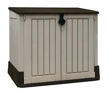 Garden Tool Store Outdoor Plastic Black & Grey Shed Secure Bike Toy Storage New
