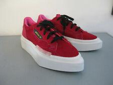 Adidas sleek, Turnschuhe, Sneaker, rot, Plateau, Fell, ovale Form, Gr. 37/38