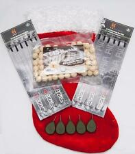 bas de Noël Ensemble matériel de pêche à la carpe 12 x Hair rigs 5 X inleads sac