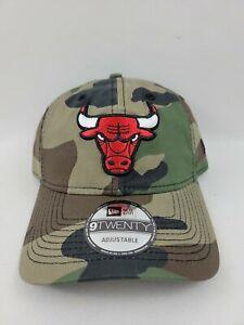 Chicago Bulls New Era 9TWENTY Adjustable Strap Hat/Cap Camouflage - Brand New