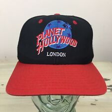 PLANET HOLLYWOOD - LONDON - Vtg 90s Black & Red SnapBack Dad Hat Cap - MUST SEE!