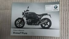 BMW R nine T Pure Motorcycle Rider's Manual