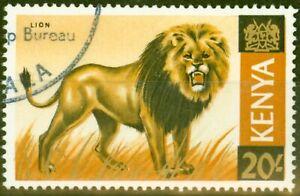 Kenya 1966 20s LION SG35var LION Doubled Re-Entry Un-LIsted V.F.U 36