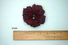 Silk Scrunchies Ponytail Holder Elastic Ties Hair Band Garnet Rust Red SC004