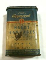 Vintage Sears Approved Handy Bandages Plain No 2647 Tin with misc bandages