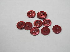 8pc 23mm Red Carved Stone effect Cardigan Trouser Shirt Kid Baby Button 0449