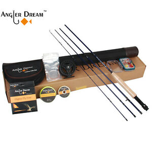 9' 5WT Carbon Fiber Fly Fishing Rod And 5/6WT Fly Reel And WF 5F Fly Line Combo