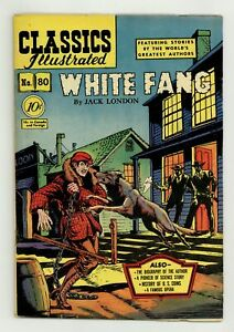 Classics Illustrated 080 White Fang #1 VG+ 4.5 1951