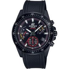 Casio Edifice Chronograph All Black Men's PVD Rubber Strap Watch EFV-540PB-1AV