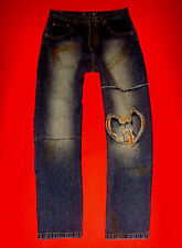 Wu Tang Prism Jeans Pantaloni lunghi cavallo basso HipHop rapper Skater Blue Denim w36 l32 NUOVO!!! TOP!!!