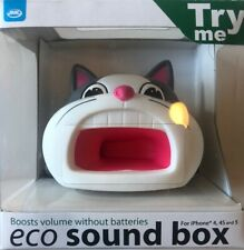 New Pink Cat Mobile Phone Wireless Travel Beach Speaker Sound Box Amplifier Dock