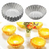 20pcs Egg Tart Aluminum Cupcake Cake Cookie Mold Pudding Mould Tin Baking Tool