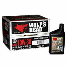 10W30 Wolf's Head Semi-Synthetic Motor Oil 12-Pack 1 Case