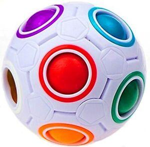 Rainbow Ball Magic Cube Fidget Toy Puzzle Magic Rainbow Ball Puzzle Fun Fidget
