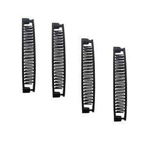 4 Banana Clips Four Small Girls Black 5 Inch Banana Comb Hair Accessories