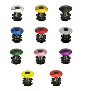 "BICYCLE HEADSET CAP 1-1/8"" ALLOY CRUISER BMX MTB FIXIE TRACK CYCLING BIKES"